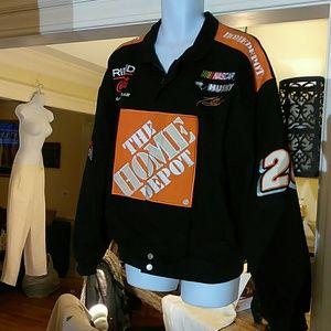 NASCAR's Tony Stewart out crew jacket.